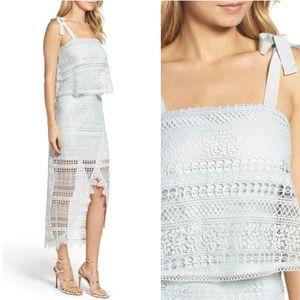 Foxiedox Anthropologie Hi-Low Dress Shoulder Tie M